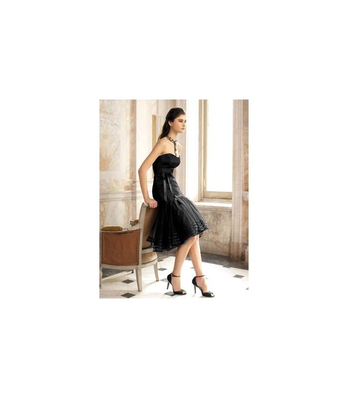 ... Krátke spoločenské šaty bez ramienok 1261. Výpredaj 4998374b92f