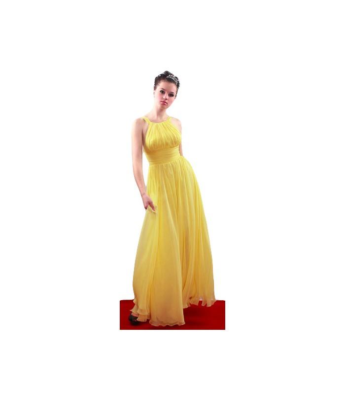... Dlhé žlté spoločenské šaty 81403. Výpredaj 77c4bf61b67