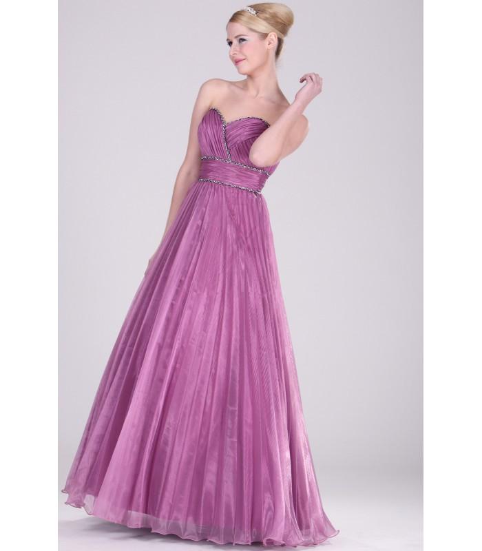 ... Dlhé fialové plisované spoločenské šaty 2810616. Výpredaj cf26cbea704