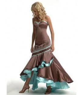 Spoločenské šaty bez ramienok 1526